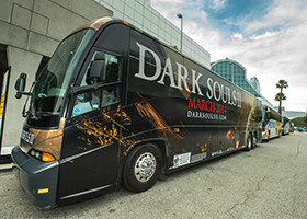 Bus With Sponsorship Wrap On It